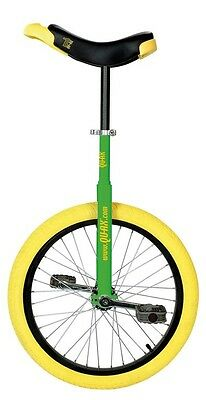 QU-AX Unicycle 20 luxury green 1104 with aluminum rim yellow wheel