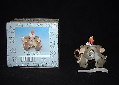 Fitz Floyd Charming Tails CANDLE LIGHT KISSES mouse love figure 87/116 + BOX