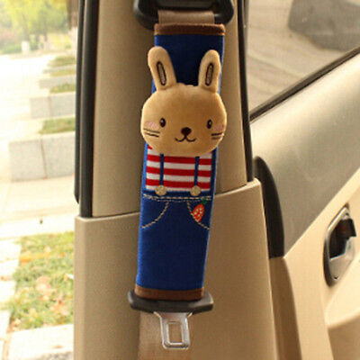 Cartoon Car Safety Seat Belt Shoulder Pad Strap Cover Harness Accessory Rabbit