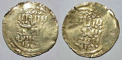 (9074) Great Mongol AV gold dinar, Bukhara, anonymous.