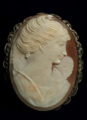 Very Old UNUSUAL Master Carver Handcarved Cameo Pin/Pendant