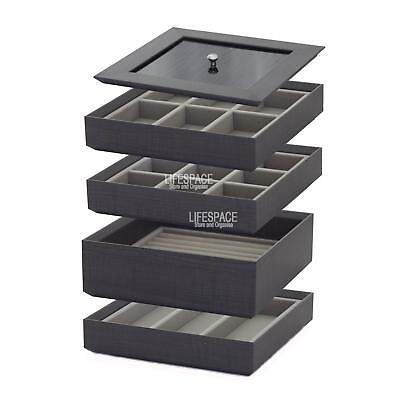 NEW Stacking Jewellery Organiser 5 Piece Set