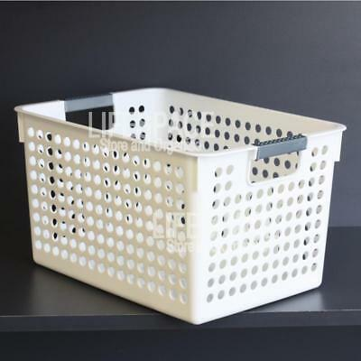 NEW Store More Utilty Basket Deep White Storage Basket Shelf Organiser