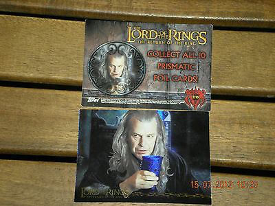 The Lord Of The Rings{The Returne Of The King} Topps  2/10