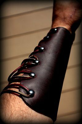 Leather Armguard - Made in Oregon - Choose from 3 sizes and two colors