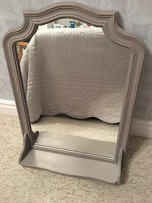 Current Season Next Wooden Wall Mirror With Ledge , Shabby Chic Grey Painted