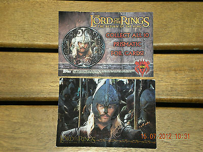 The Lord Of The Rings{The Returne Of The King} Topps  10/10