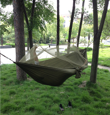 Camping Hiking Travel Hammockwith Mosquito Net Outdoor Travel Swing Hanging Bed