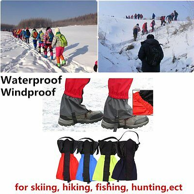 Waterproof Outdoor Hiking Walking Climbing Hunting Snow Legging Gaiters New DG