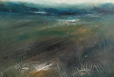 """ORIGINAL Oil PAINTING """"Abstract Landscape No 97""""  by Karen Rice"""