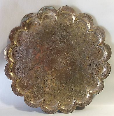 Large Brass Wall Hanging Tray