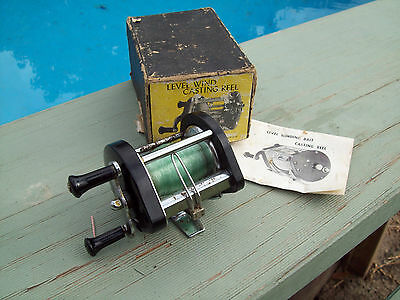 Vintage Fishing Reel Made In Japan In Box ,Collect Or Use Overhead Reel