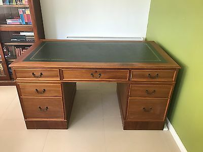 Leather inlaid antique writing desk !!