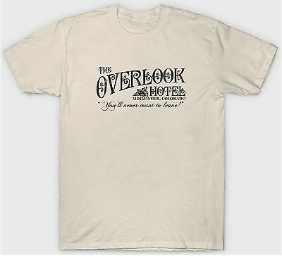 The Shining T Shirt Overlook Hotel Cult Horror Film Movie 1980'S