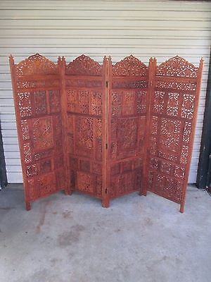 Teak timber screen room divider