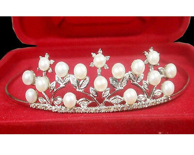 Victorian Reproduction 2.67Ctw. Rose Cut Diamond Sterling Silver Antique Tiara