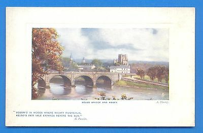Kelso Bridge And Abbey.tucks Oilette Postcard By A.young.