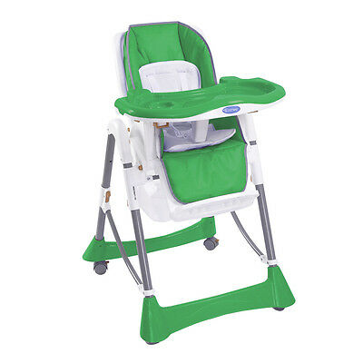 Baby Feeding High Chair Foldable Infant Toddler Seat Highchair w/Bottom Basket