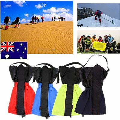 1Pair Waterproof Outdoor Hiking Walking Climbing Hunting Snow Legging Gaiters DG