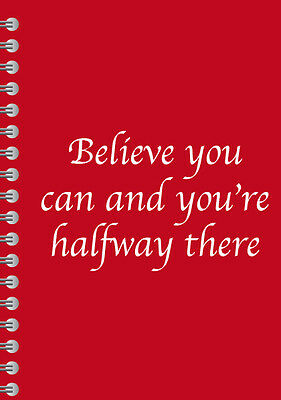 Believe you can motivational quote diary, 2017 A5 spiral bound