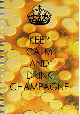 Keep calm & drink champagne A5, spiral bound 2017 diary, MLM/Networking