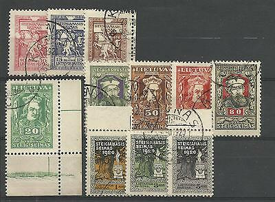 Philately Stamps Lithuania Lietuva 1920 used canceled MiNr. 76/86 Mi€ 24.-