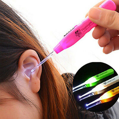 Popular Easy Ear-pick Ear Wax Remover Cleaner Curette With LED Flashlight Light