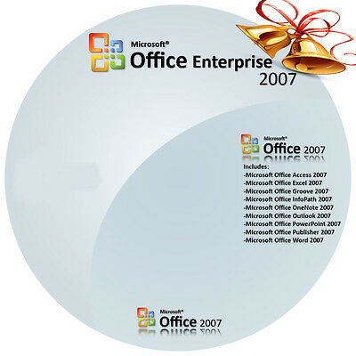 Microsoft Office Enterprise 2007 Software + Key and Download (3 Pc's)