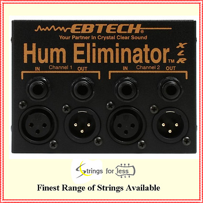 Ebtech HE-2 XLR 2-Channel Stereo Hum Eliminator with XLR Pedal