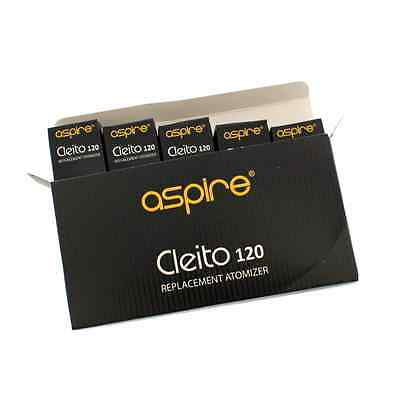 Aspire Cleito 120 coils (Box 5) Genuine Replacement Coil Heads, 0.16ohm, UK