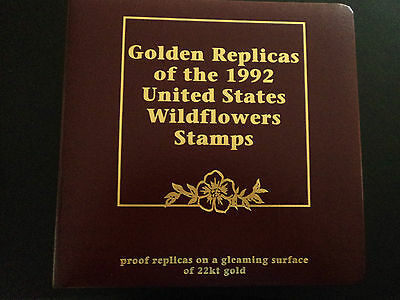Golden Replicas of th1992 U.S Wildflowers Stamps - First Day Of Issue 50 Covers