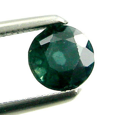 0.55 carat Round 4.7mm Green/Blue Natural Australian Fancy Parti Sapphire Loose