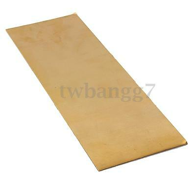300mm x 100mm H62 Brass Sheet 0.5mm Thick For Riveting Cutting Tools