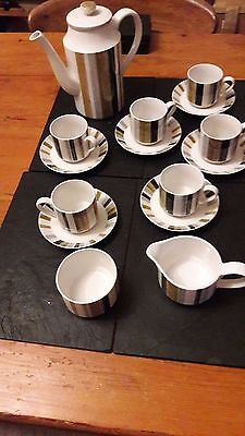 Retro 1960s Staffordshire Midwinter Coffee Set inc. s/bowl and milk jug