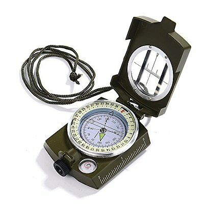 GWHOLE Compass Waterproof Hiking Military Navigation Compass with Pouch Lanyard,