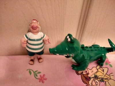 peterpan pirates smee and crocodile very rare  famosa  2003 disney