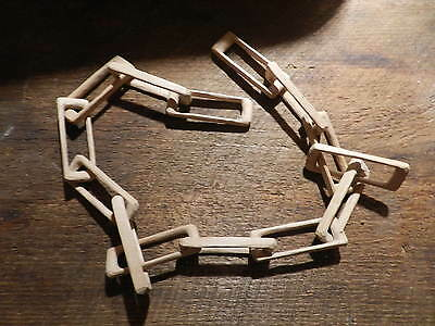 Antique Prison Hobo Folk Art  Chain Links  One Piece Of  Wood 36''