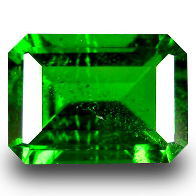 1.02 ct  Gorgeous Octagon Shape (7 x 5 mm) Green Chrome Diopside Gemstone