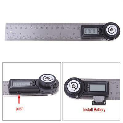 2-In-1 360 Degree Digital Angle Rule Ruler Finder Protractor