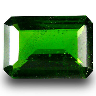 0.80 ct  Spectacular Octagon Shape (7 x 5 mm) Green Chrome Diopside Gemstone