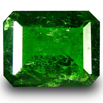 2.43 ct  Remarkable Octagon Shape (9 x 7 mm) Green Chrome Diopside Gemstone