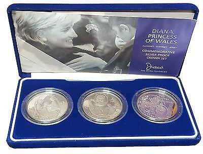 2002 Diana Princess of Wales Commemorative Silver Proof Crown Set