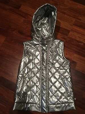 Fred Bare Silver Girls Puffer Jacket Size 10