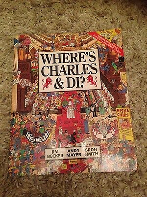 Princess Diana Where's Charles And Di Child Activity Game Book Oversize