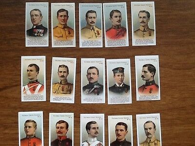 VICTORIA CROSS HEROES (101-125) 1904  (Set of 25 cards)
