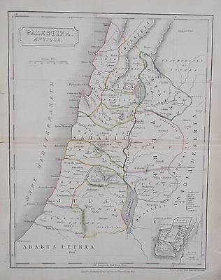 Map of Ancient Palestine. 1826. Original.Butler. ROMAN. MIDDLE EAST