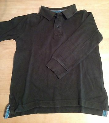Polo Zara taille 4 - 5 ans Manches Longues Vert Forêt