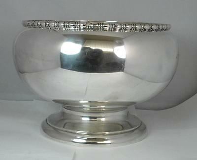 Huge 1923 Solid Silver Fruit / Punch Bowl 900 Grams 30 OZ