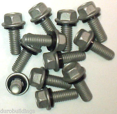 "Duro Steel Building Pk-500-5/16""x3/4"" Replacement Grain Bin Arch Bolt Nut Washer"