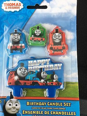 4 Thomas The Tank Engine Happy Birthday Party candles Cake Toppers Topper